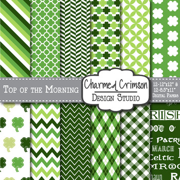 St. Patricks Day Digital Paper 1042