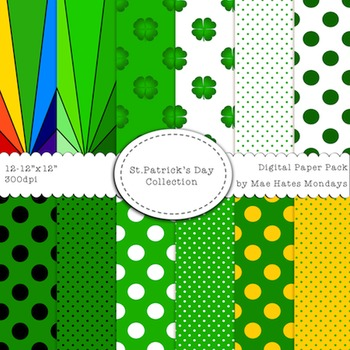 St. Patrick's Day Digital Paper Background