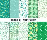 St Patricks Day Digital Paper, Digital Paper Pack, Lucky C