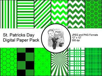 Digital Paper - St Patricks Day Pack 1