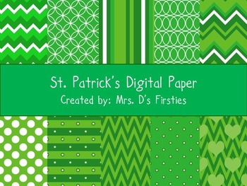 St Patrick's Day Digital Paper Pack