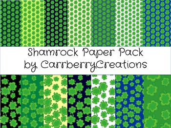 Digital Paper Pack: St. Patrick's Day