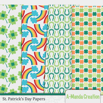 St. Patricks Day Digital Papers