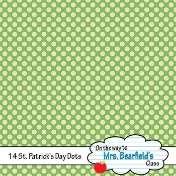 St. Patrick's Day Digital Papers {Polka Dots}