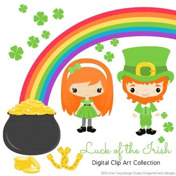 St. Patrick's Day Digital clip Art Set