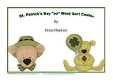 """St. Patrick's Day Diphthong """"oo"""" Word Sort Center"""