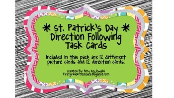 St. Patrick's Day Direction Following Task Cards