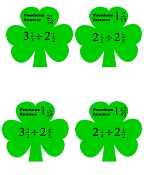 St. Patrick's Day - Dividing Fractions Scavenger Hunt