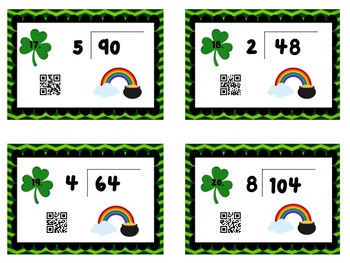 St. Patrick's Day Division Cards with QR codes