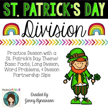 St. Patrick's Day Division! Long Division, Word Problems, & More!