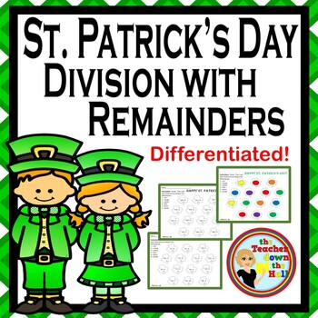 St. Patrick's Day Division with Remainders - 2 Different Levels!