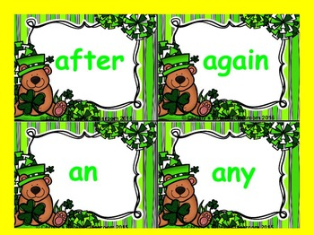 St. Patrick's Day Dolch Build a Sight Word--First Grade