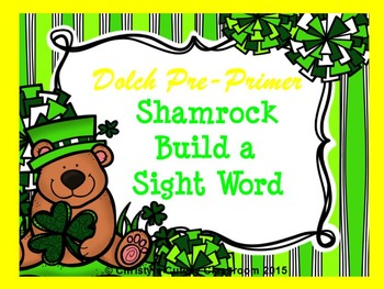 St. Patrick's Day Dolch Build a Sight Word--Pre-Primer List