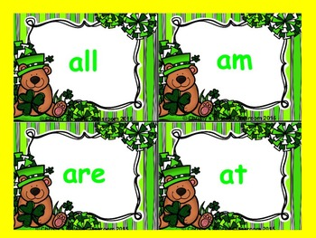 St. Patrick's Day Dolch Build a Sight Word--Primer