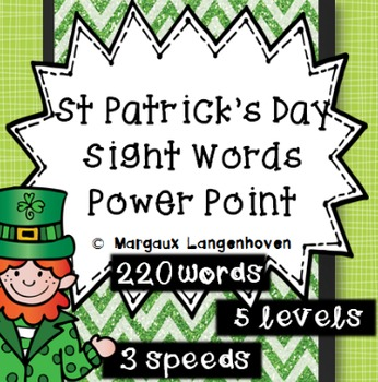 St Patrick's Day Dolch Sight Word PowerPoint