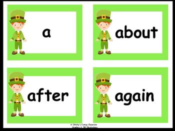 St. Patrick's Day Dolch Word Flash Cards