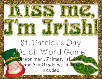 St. Patrick's Day Dolch Word Game (Preprimer - 3rd Grade Word Lists)