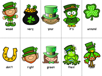 St Patricks Day Dolch Word Games - BUNDLE