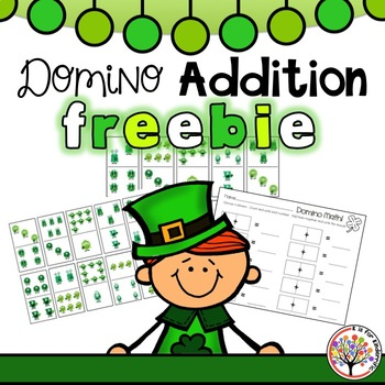 St. Patrick's Day Domino Addition Center FREEBIE