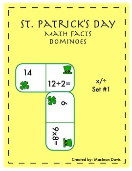 St. Patrick's Day Dominoes - Math Fact Practice x/÷ Set 1