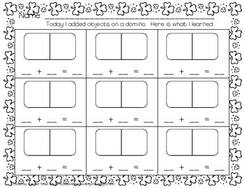 St Patrick's Day Dominoes & Printables; Addition, Joining Groups & Fact Families