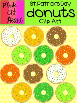 St Patricks Day Donuts Clip Art