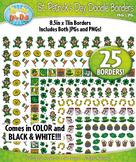 St. Patrick's Day Doodle Frame Borders {Zip-A-Dee-Doo-Dah Designs}