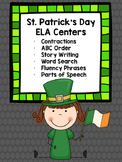 St. Patrick's Day ELA Centers and Activities