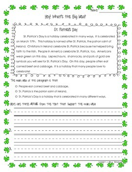 St. Patrick's Day ~ *ELA FREEBIE!*~