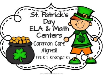 St. Patrick's Day ELA & Math Centers
