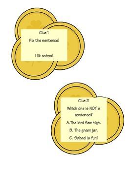 St. Patrick's Day ELA & Math Scavenger Hunt