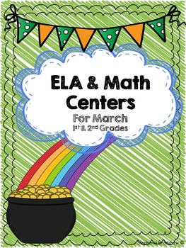 St. Patrick's Day ELA and Math Activities for 1st and 2nd Grades-Common Core