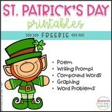 FREE St. Patrick's Day ELA and Math Printables