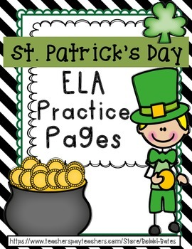 St. Patrick's Day ELA practice Pages