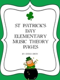 St Patrick's Day Elementary Music Theory Pages