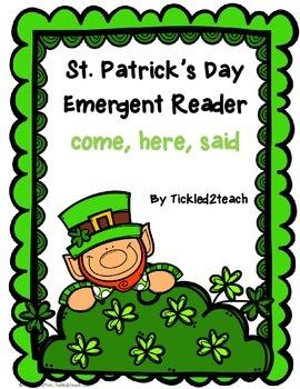 St Patrick's Day Emergent Reader