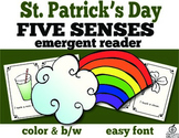 St. Patrick's Day Emergent Reader: Five Senses of St. Patrick's Day