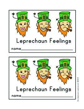 St. Patrick's Day Emergent Reader: Leprechaun Feelings/Emotions