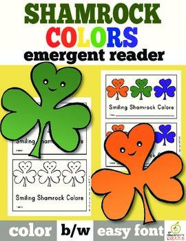 St. Patrick's Day Emergent Reader: Shamrock Color Words