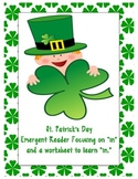 "St. Patrick's Day Emergent Reader and Sight Word Sheet: Focuses on ""in"""