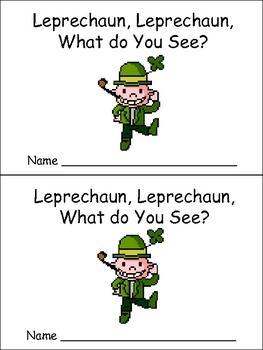 St. Patrick's Day Emergent Reader for Preschool Kindergarten