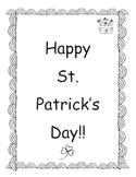 St. :Patricks Day Emergent Reader/Coloring