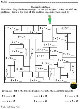 St. Patrick's Day English Language Arts & Math Activity Pack