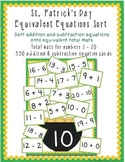St. Patrick's Day Equivalent Equations Sort