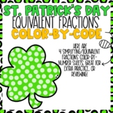 St. Patricks Day Equivalent  Fractions Color-By-Number