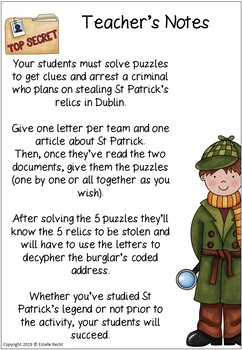 St Patricks Day Activities Escape Game - Advanced Edition