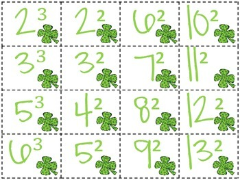 St. Patrick's Day Exponents