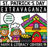 St. Patrick's Day Extravaganza (23 Math & Literacy Centers)
