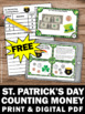 FREE St. Patrick's Day Math Activities Counting Money Task