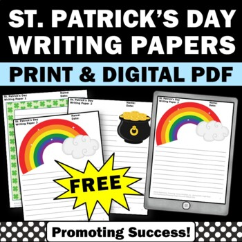 FREE St. Patrick's Day Creative Writing Papers Picture Pro